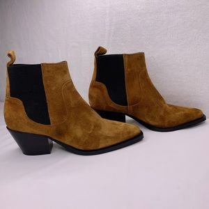 Everlane The Western Boot Slip on Ankle Heel Boot